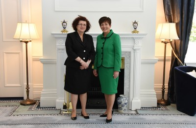Image of Dame Patsy and the High Commissioner of Cyprus, HE Mrs Martha Mavrommati