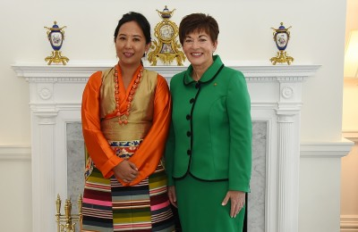 an image of Her Excellency Ms Lucky Sherpa, The Ambassador of Nepal, and Dame Patsy