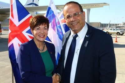 An image of Dame Patsy with Ayoub Kara, Israeli Minister of Communications