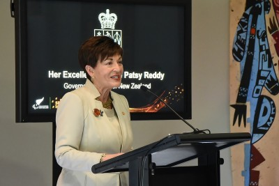 Image of Dame Patsy speaking at the Paralympics NZ team farewell