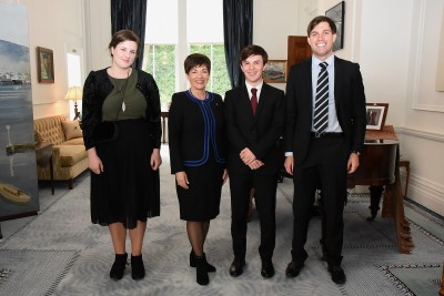 an image of Dame Patsy and the Rhodes Scholars for 2018