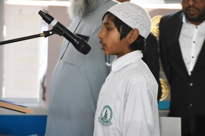 Image of an AMS student at Assembly