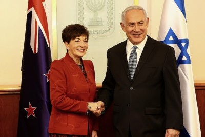 an image of Dame Patsy and the Prime Minister, HE Mr Benjamin Netanyahu