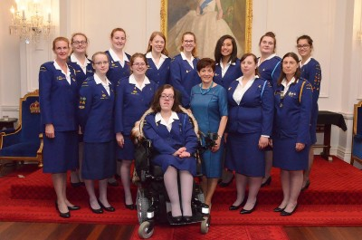 an image of Dame Patsy and Queen's Awards recipients