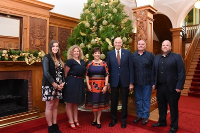 an image of Their Excellencies with Amanda Burgess, Shaun Batstone, Sahra Birtwistle and Ben Eastwood