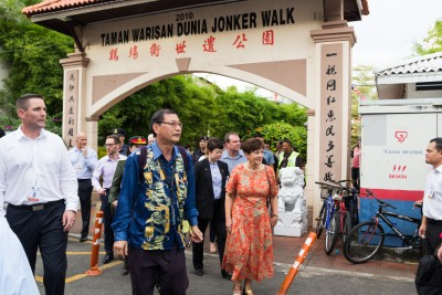 An image of Dame Patsy at the Jonker Walk World Heritage Park