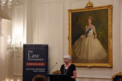 Image of the Administrator Dame Sian Elias speaking