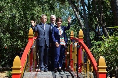 an image of Dame Patsy, Hurunui Mayor Winton Dalley and Mr Wang Zhijian