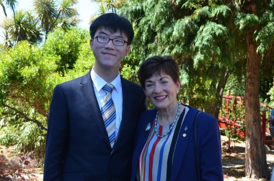 an image of Dame Patsy with a member of the Chinese delegation