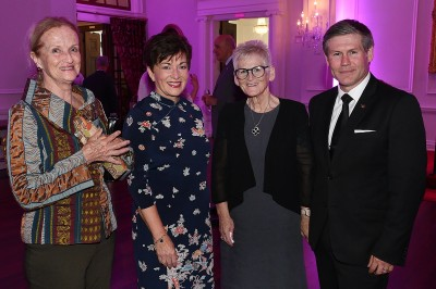 Image of Dame Patsy with Dame Patsy with Jude Dods of Kura Gallery, Anne Dyhrberg and Steve Dyhrberg of VIP Transport