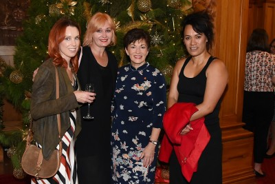 Image of Dame Patsy with Cheryl Fafeita, Janine Weatherly and Tania Waipuka of Mane Salon