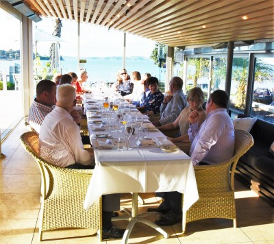 Image of guests at the dinnerfor the Chief of Navy, Rear Admiral John Martin, hosted by Dame Patsy