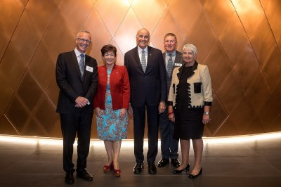 an image of Their Excellencies with David Goddard, Chris Milne and the Chief Justice, Dame Sian Elias