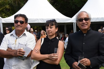 an image of Witi Ihimaera and guests