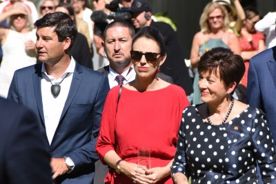 an image of Clark Gayford, The Rt Hon Jacinda Adern and Dame Patsy Reddy