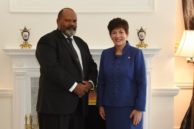Image of HE Mr Johnson Naviti with HE The Rt Hon Dame Patsy Reddy
