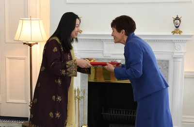 Image of HE The High Commissioner of Malaysia, HE Ms Nur Izzah Wong Mee Choo presenting her credentials