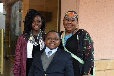 an image of HE Ms Vuyiswa Tulelo and her children