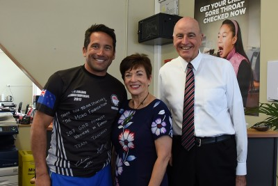 an image of Their Excellencies with Dr Lance O'Sullivan at Moko Foundation