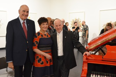 Image of Dame Patsy and Sir David with Michael Houston