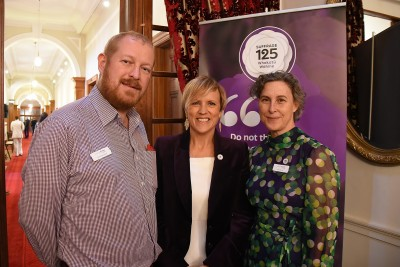 Image of Hilary Barry of Seven Sharp with  Aaron Hailwood and Kim Young from the Ministry for Women