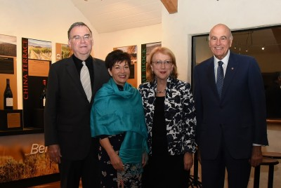an image of Dame Patsy and SIr David with Donald Donovan and Jennifer Lake