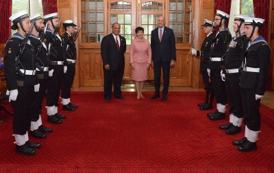 an image of Their Excellencies and Minister of the Crown Hon Aupito William Sio