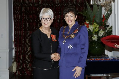 Image of Dame Patsy with Jenny Ellis