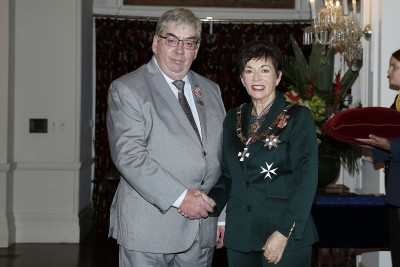 Image of Dame Patsy Reddy and Graham Keep