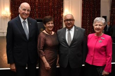 Image of Dame Patsy and Sir David with former Governor-General, Sir Anand Satyanand and Lady Susan Satyanand, who is patron of the Ballet Foundation, S