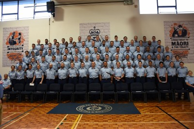 an image of Wing 316 police recruits