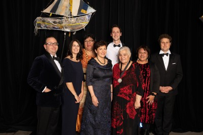 Image of Dame Patsy with the 2018 Blake Leaders and Blake Medallist