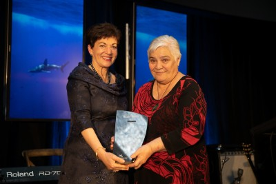 Image of Dame Patsy and Dame Tariana Turia at the Blake Leader Awards