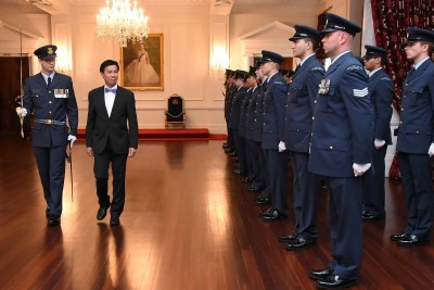 Ambassador of the Socialist Republic of Viet Nam inspecting the Guard of Honour