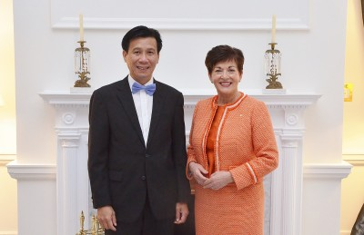 an image of HE Mr Ta Van Thong, the Ambassador of the Socialist Republic of Viet Nam and Dame Patsy