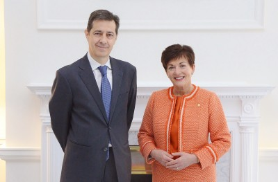 an image of HE Mr Fernando Curcio Ruigomez, the Ambassador of the Kingdom of Spain and Dame Patsy
