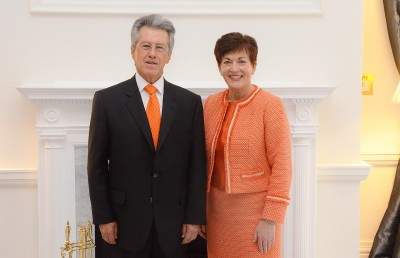 an image of HE Mr Jaime Bueno-Miranda, the Ambassador of the Republic of Colombia and Dame Patsy
