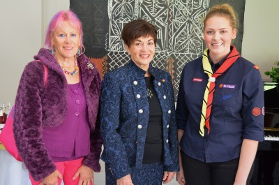 Image of Dame Patsy and Petra Saecker-Battley of the Te Atatu Endeavour Sea Scout Group