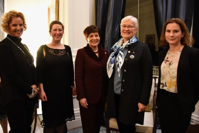 an image of Dame Patsy with Wendy Saunders, Jessie Prebble, Wendy Nelson and Deirdre Hart