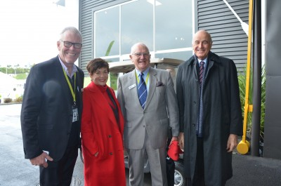 an image of Dame Patsy and Sir David with Peter Carr and Nick Dromgool