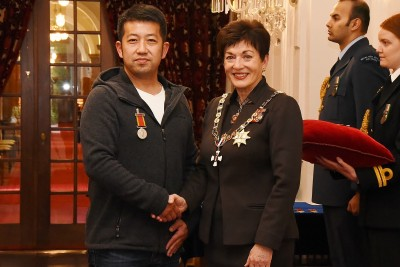 Image of Dame Patsy with Nan Xia