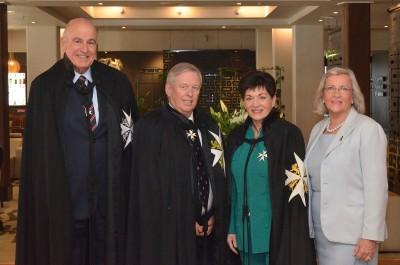 an image of Dame Patsy and Sir David with Dr Steven Evans and Maree Williams
