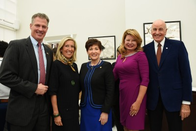 an image of Dame Patsy and Sir David with HE Mr Scott Brown, Mrs Gail Brown and Mrs Nancy Gilbert