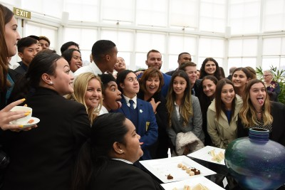 an image of New Zealand and American students