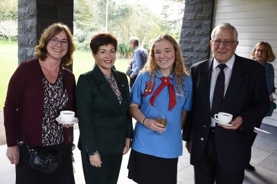 Image of Dame Patsy meeting recipients and families