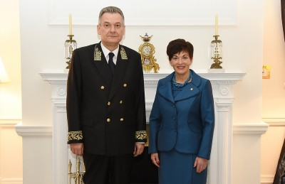 an image of HE Mr Georgii Zuev, Ambassador of the Russian Federation with Dame Patsy