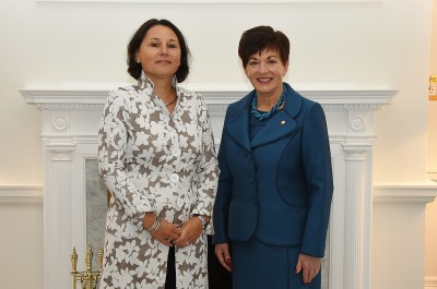an image of Dame Patsy and HE Mrs Mira Woldberg, Ambassador of the Kingdom of the Netherlands