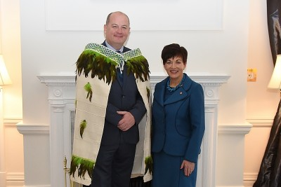 an image of Dame Patsy and HE Mr Peter Ryan, The Ambassador of Ireland