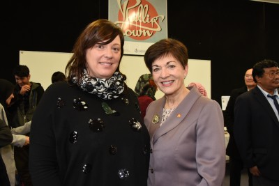 an image of Dame Patsy with Viviana Zanetti of the Phillipstown Community Hub