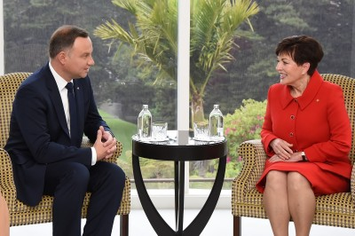 Image of the Dame Patsy and  President of the Republic of Poland, HE Andrzej Duda